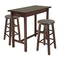 Winsome 3 pc Breakfast Table & Stool Set
