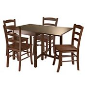 Winsome Lynden 5 pc Drop Leaf Dining Table & Chair Set