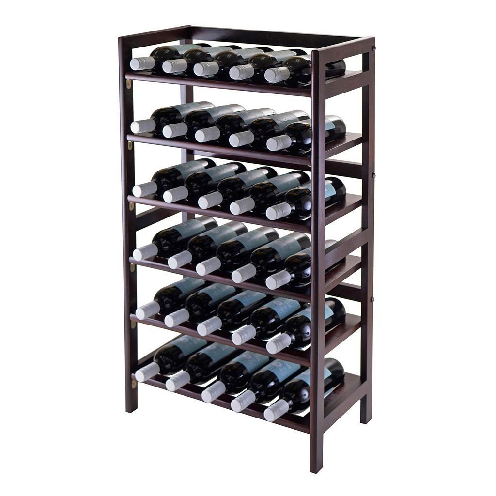 Winsome Silvi 30-Bottle Wine Rack