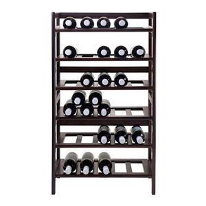 Winsome Silvi 30-Bottle Wine Rack