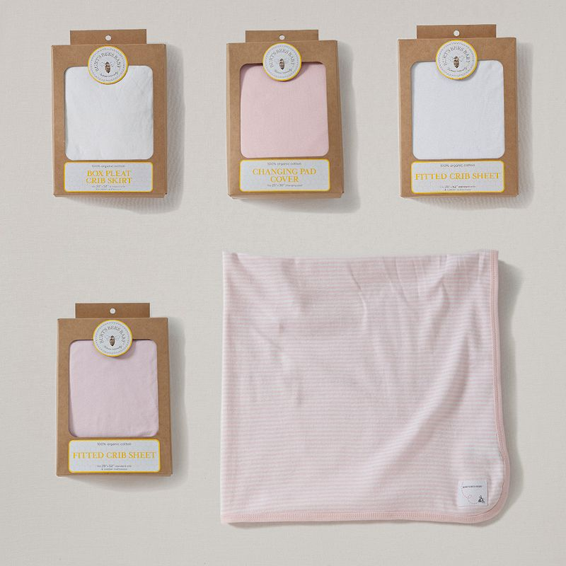 Burt's Bees Baby Organic Blossom Bedding Gift Set, Pink
