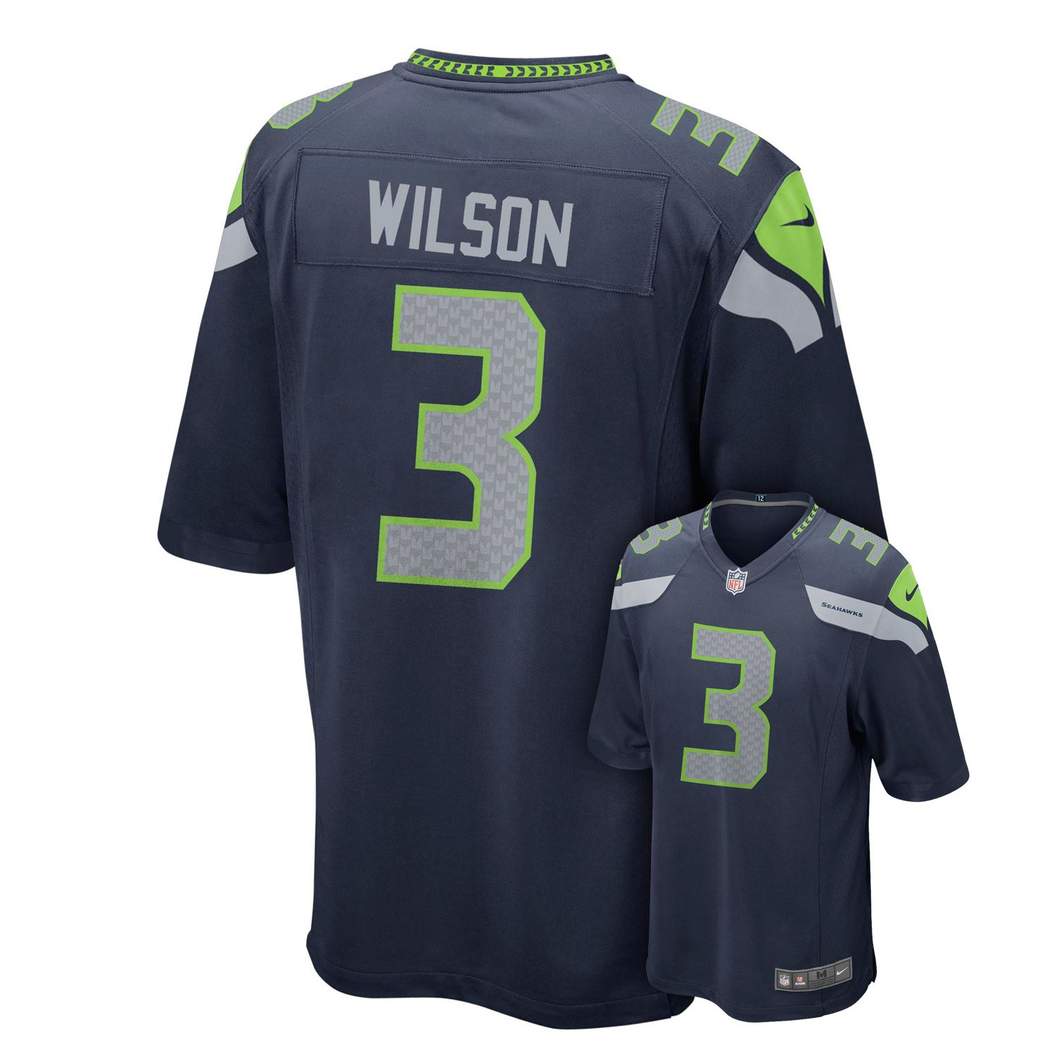 boys 820 nike seattle seahawks russell wilson game nfl replica jersey