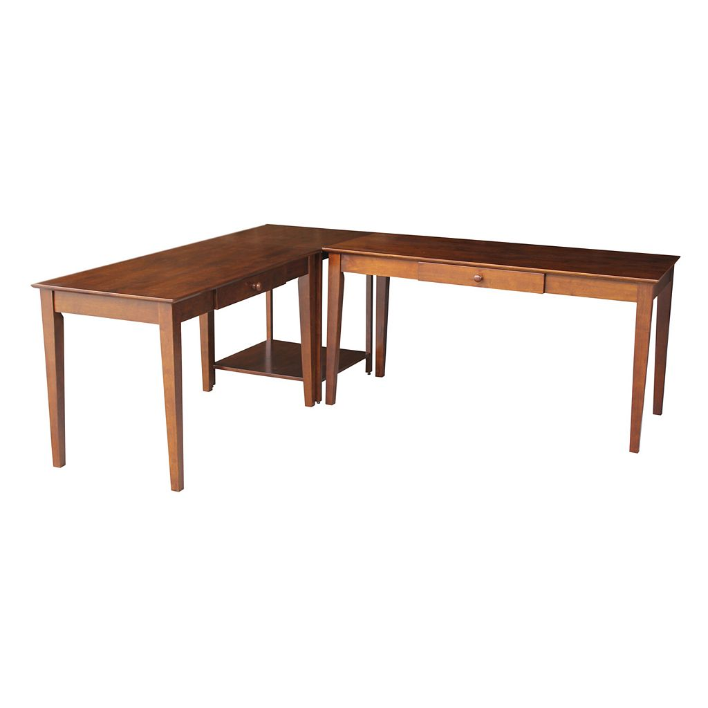 Two Desks with Connecting Table