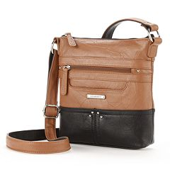 Stone   Co. Lydia Leather Crossbody Bag. Black Tan 690cc95a3b