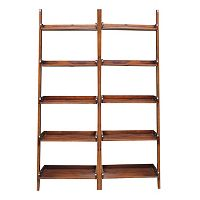 2 pc Lean To Shelf Unit Set