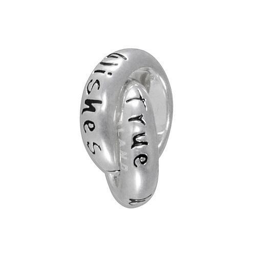 "Disney Sterling Silver ""Wishes Come True"" Interlocking Circle Bead"