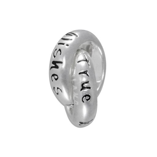 Disney Sterling Silver Wishes Come True Interlocking Circle Bead
