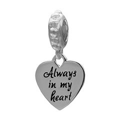 Individuality Beads Sterling Silver 'Always In My Heart' Charm