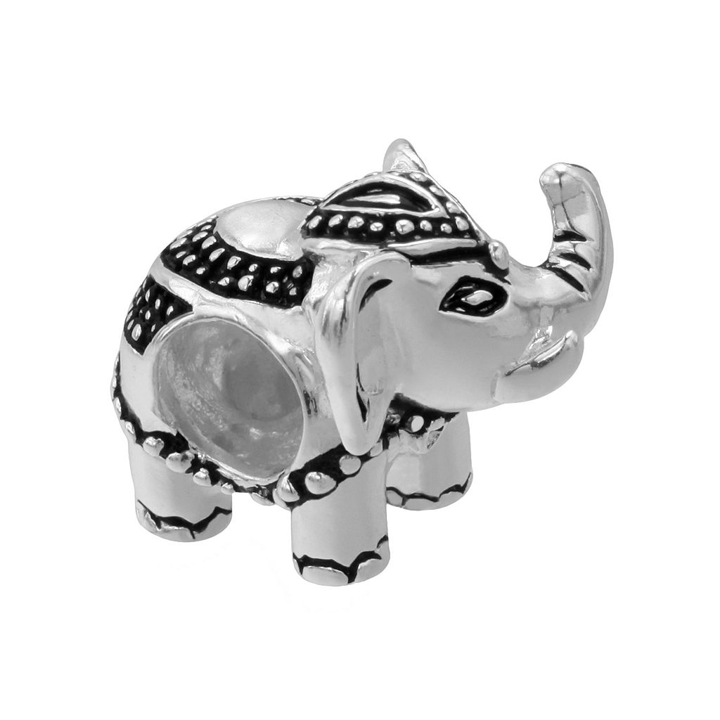 Individuality Beads Sterling Silver Textured Elephant Bead