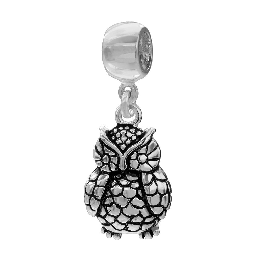Individuality Beads Sterling Silver Owl Charm