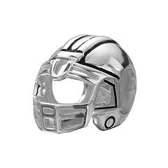 Individuality Beads Sterling Silver Football Helmet Bead