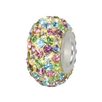 Individuality Beads Sterling Silver Pastel Crystal Bead