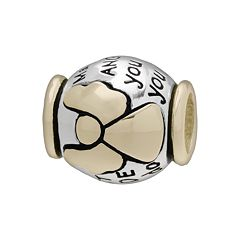 Individuality Beads 14k Gold Over Silver & Sterling Silver Guardian Angel Bead