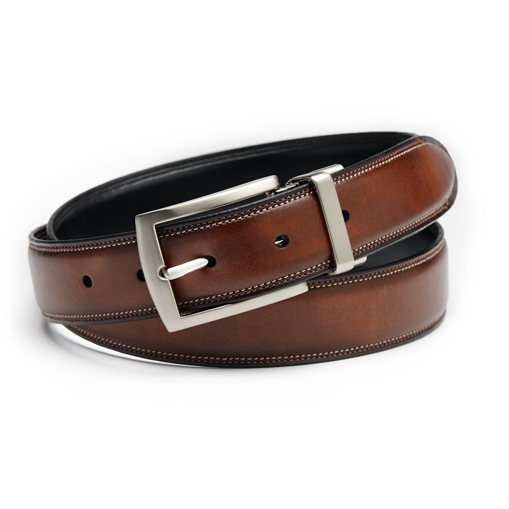 Croft & Barrow® Feather-Edge Stitched Reversible Belt - Men