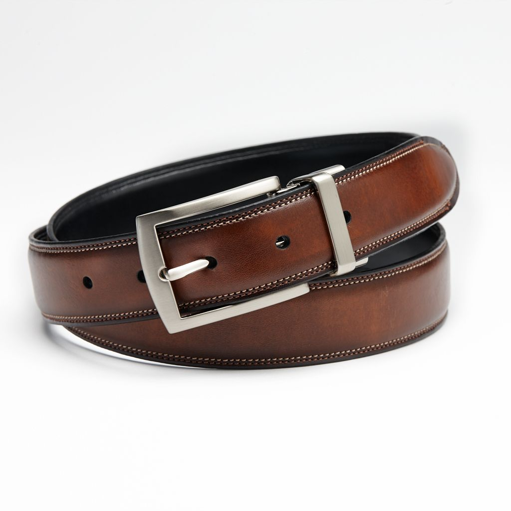 Croft & Barrow® Feather-Edge Stitched Reversible Belt - Big & Tall