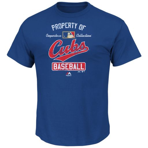 Majestic Chicago Cubs Cooperstown Property Of Tee - Men