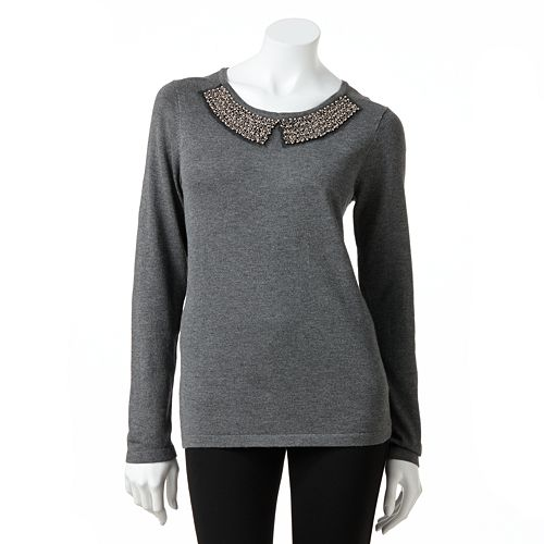 Women's AB Studio Embellished Sweater