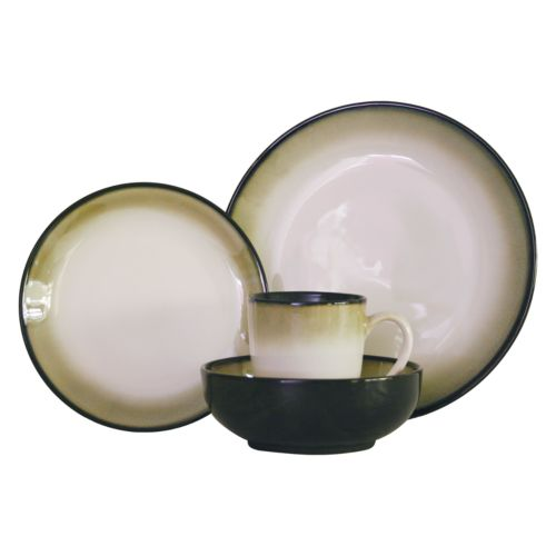 Sango Nova Black 16-pc. Dinnerware Set
