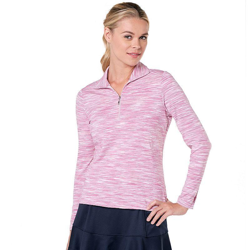 Tail Kate Space-Dye 1/4-Zip Tennis Top - Women's (Pink)