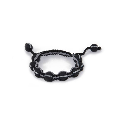 Oakland Raiders Bead Bracelet