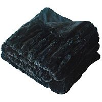 Double Woven Faux-Fur Throw
