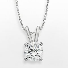 Diamonore Sterling Silver 1-ct. T.W. Simulated Diamond Solitaire Pendant