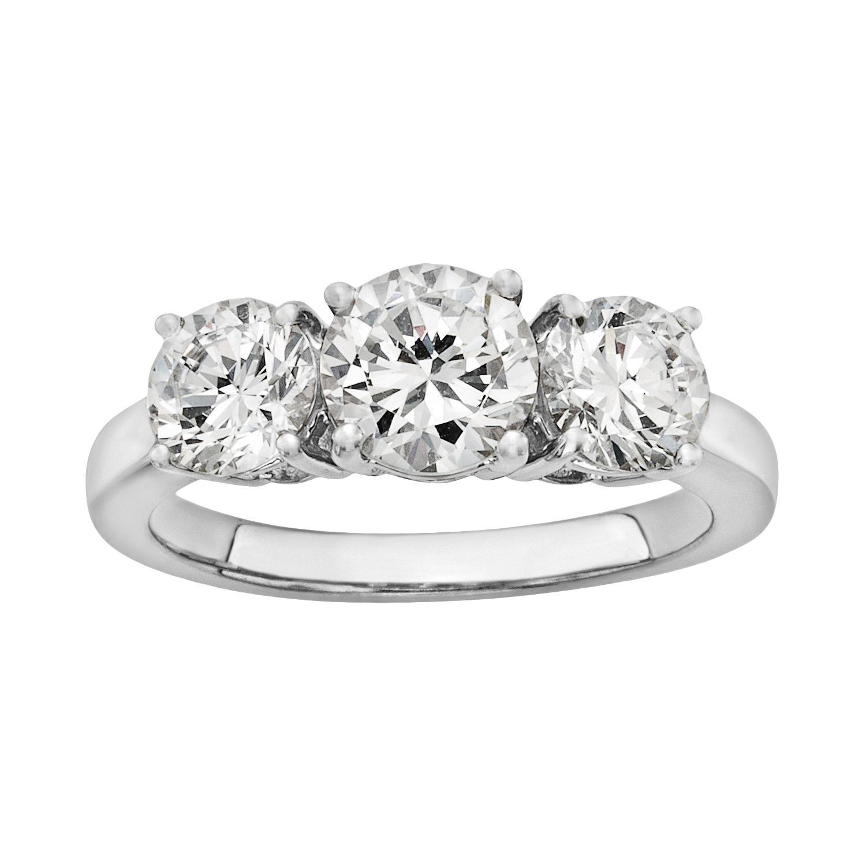 Sale Diamonore Simulated Diamond 3 Stone Engagement