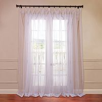 EFF Solid Sheer Voile Window Curtain Set - 50