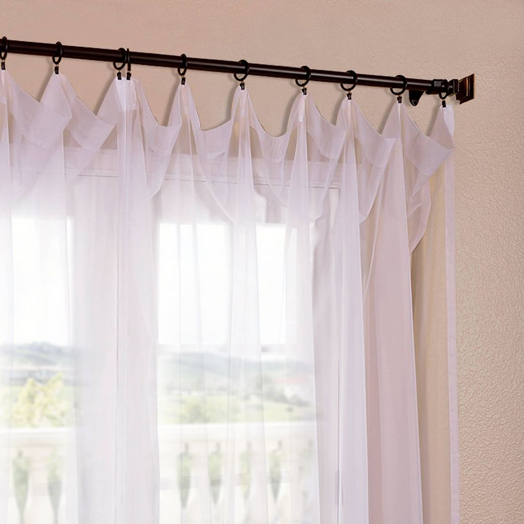 EFF Solid Sheer Voile Window Curtain Set - 50'' x 96''