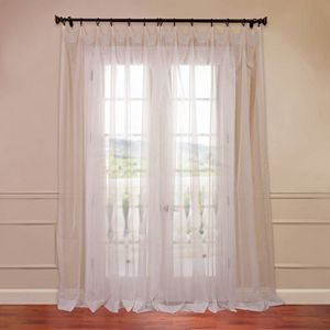 Window Curtainworks 1 Panel Soho Sheer Voile Pinch Pleat Curtain