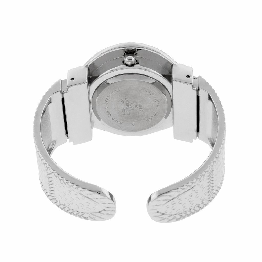 Women's Textured Bangle Watch