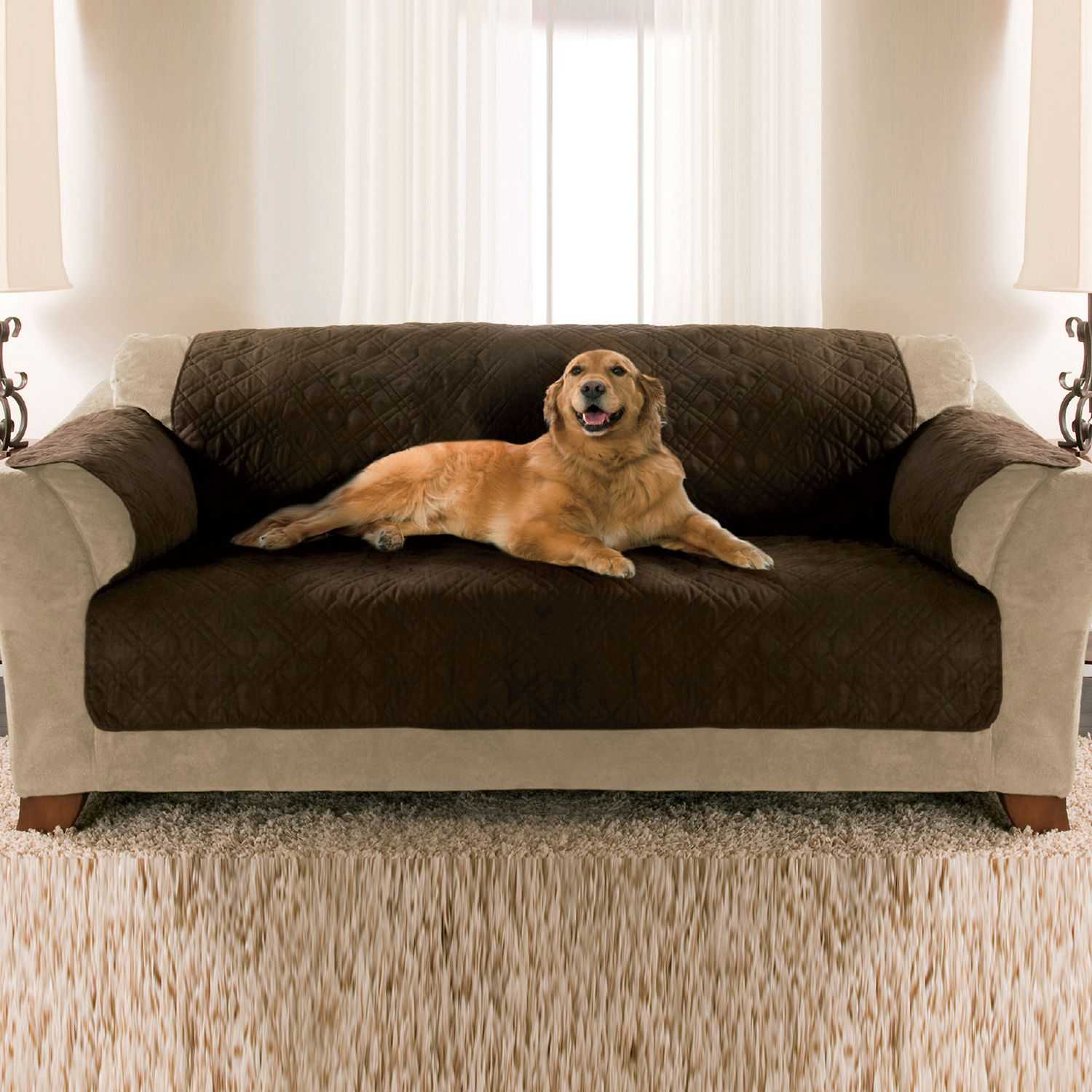 Quilted sofa pet covers