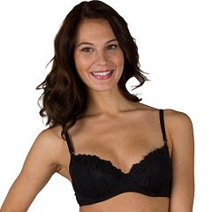 Juniors' Candie's® Bra: Push-Up Lace-Trim Balconette Bra