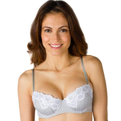Candie's® Bra: Push-Up Lace-Trim Balconette Bra