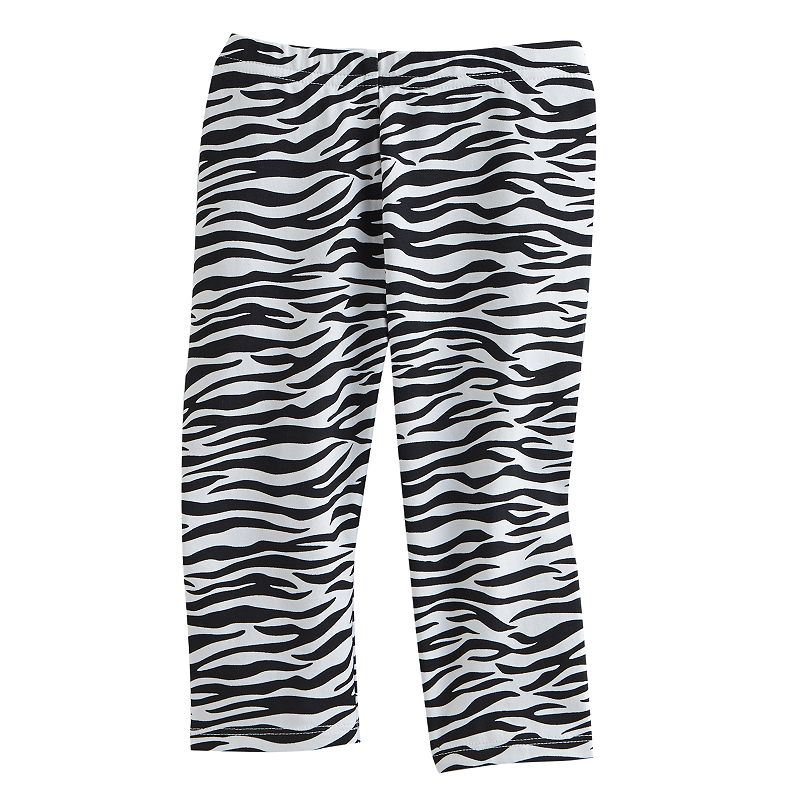Jumping Beans Zebra Capri Leggings - Toddler