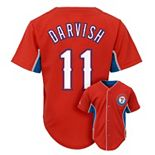 Majestic Texas Rangers Yu Darvish Team Leader MLB Jersey - Boys 8-20
