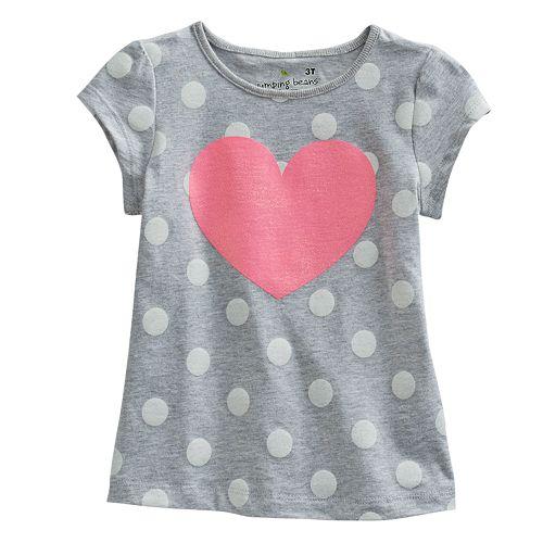 Jumping Beans® Glitter Heart Tee - Toddler