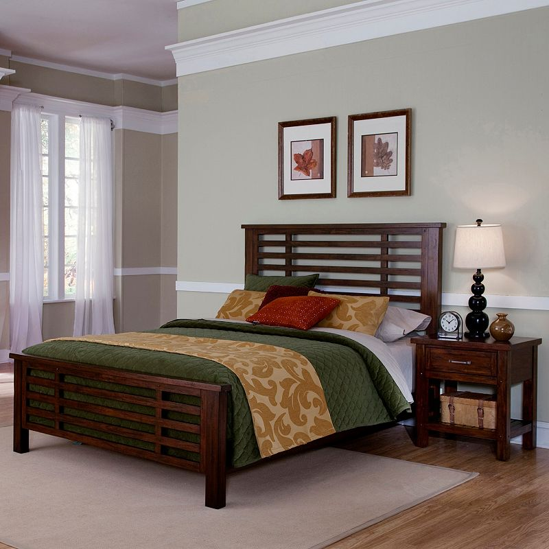 Cabin Creek 4-pc. King Headboard, Footboard, Bed Frame and Nightstand Set, Brown