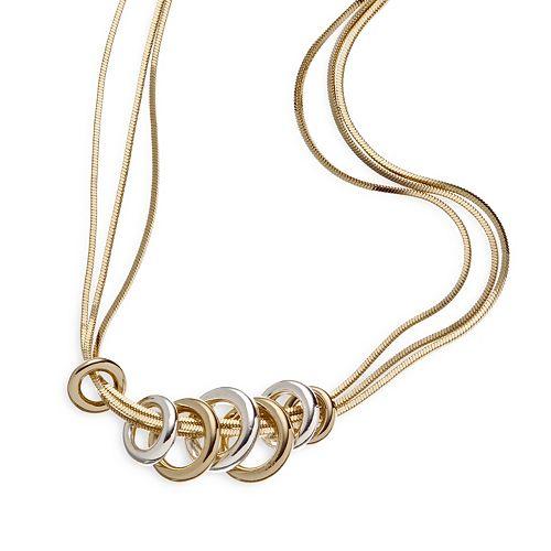 Napier® Two Tone Bands Necklace