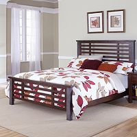 Cabin Creek Hammered Post 3 pc King Headboard, Footboard & Bed Frame Set