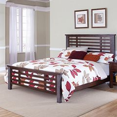 Cabin Creek Hammered Post 3-pc. King Headboard, Footboard & Bed Frame Set
