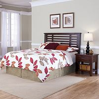 Cabin Creek 2-pc. King/California King Chestnut Finish Headboard & Nightstand Set