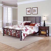 Cabin Creek 4 pc King Headboard, Footboard, Bed Frame & Nightstand Set