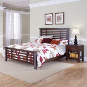 Cabin Creek 4-pc. King Headboard, Footboard, Bed Frame and Nightstand Set