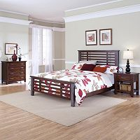 Cabin Creek 5-pc. King Headboard, Footboard, Bed Frame, 4-Drawer Chest & Nightstand Set