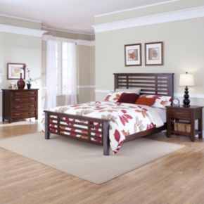 Cabin Creek 5-pc. King Headboard, Footboard, Bed Frame, 4-Drawer Chest and Nightstand Set