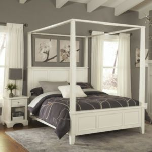 Home Styles Naples 4-pc. Queen Headboard, Footboard, Frame Canopy Bed and Nightstand Set