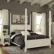 Home Styles Naples 4 pc King Four-Post Bed & Nightstand Set