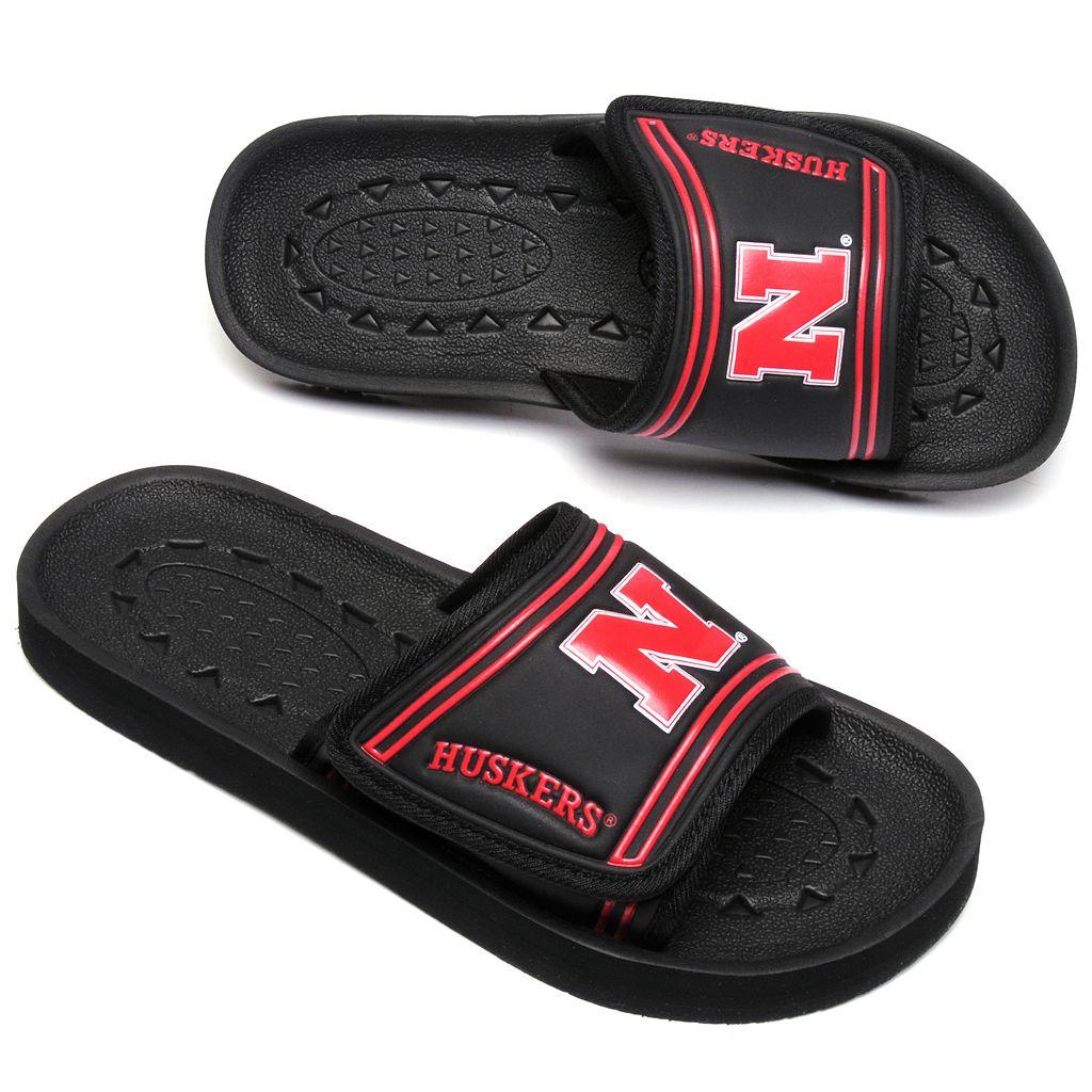 Youth Nebraska Cornhuskers Slide Sandals