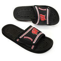 Wisconsin Badgers Slide Sandals - Youth